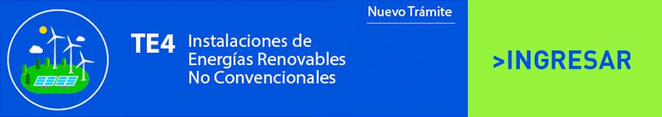 TE4 Instalaciones de Energías Renovables No Convencionales Ingresar
