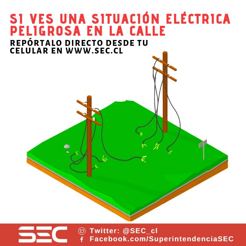 Si ves una situación eléctrica peligrosa en la calle, repórtala