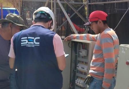 SEC Tarapacá fiscaliza que instalaciones eléctricas habilitadas por la Expo Huara 2020 sean seguras