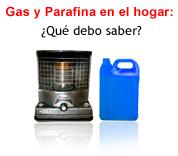Gas y Parafina en el Hogar